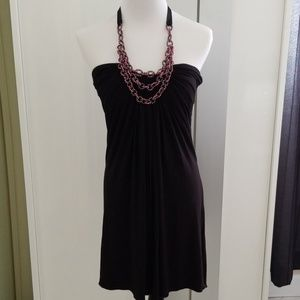 Sky Halter Mini Dress